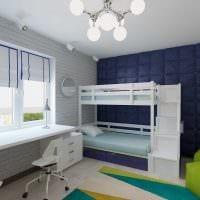 вариант необычного дизайна детской комнаты для двух мальчиков картинка