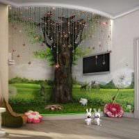 идея красивого декора детской комнаты для девочки фото