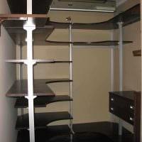 вариант современного дизайна гардеробной комнаты картинка