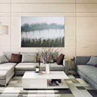 вариант необычного интерьера гостиной в современном стиле картинка