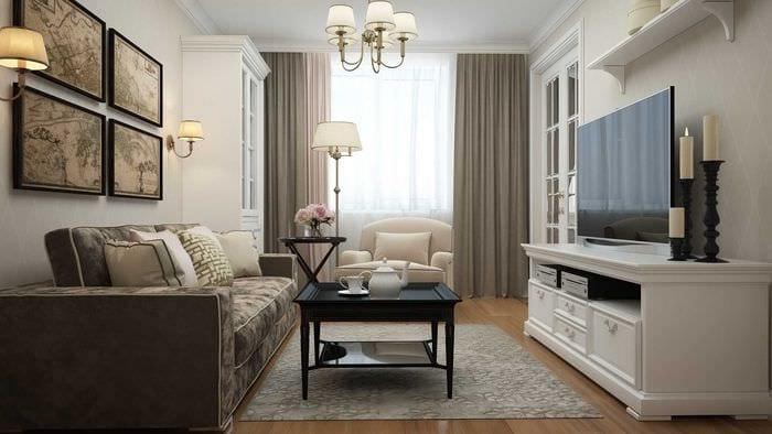 идея необычного стиля квартиры в стиле современная классика