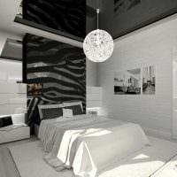 идея яркого стиля белой спальни картинка