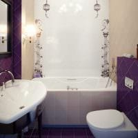 вариант красивого интерьера ванной комнаты 2.5 кв.м картинка