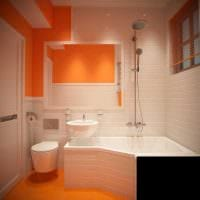вариант современного дизайна ванной комнаты 2.5 кв.м картинка
