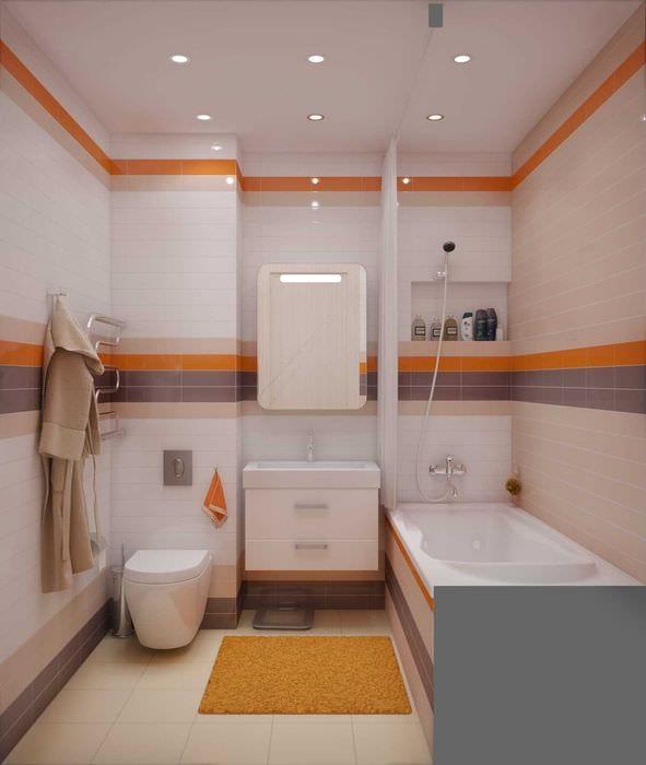 вариант современного стиля ванной комнаты 2.5 кв.м