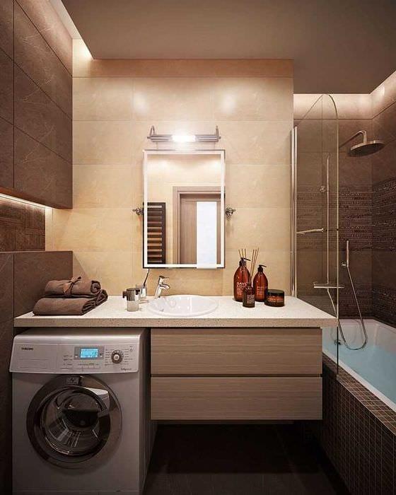 идея яркого дизайна ванной комнаты 2017