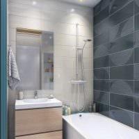вариант необычного стиля ванной 4 кв.м картинка