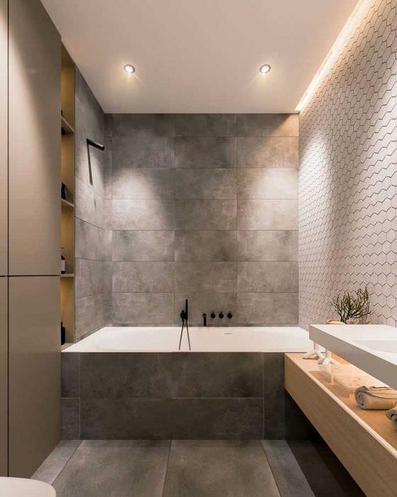 идея красивого стиля ванной 2017