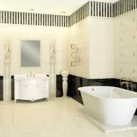 идея светлого стиля ванной комнаты в классическом стиле картинка