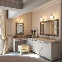 вариант необычного интерьера ванной в классическом стиле картинка