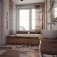 вариант современного интерьера большой ванной комнаты картинка