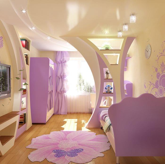 идея яркого интерьера детской комнаты