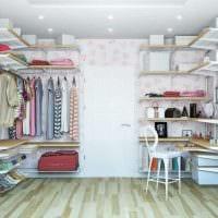 идея красивого стиля гардеробной комнаты фото