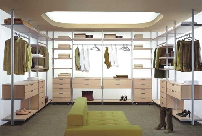 идея красивого интерьера гардеробной