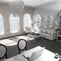 вариант красивого дизайна комнаты в стиле современная классика картинка