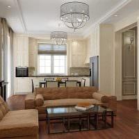 идея светлого декора квартиры в стиле современная классика фото