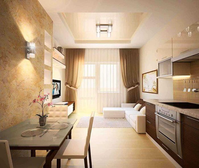 дизайнерский ремонт в двухкомнатной квартире фото стен кухне должен
