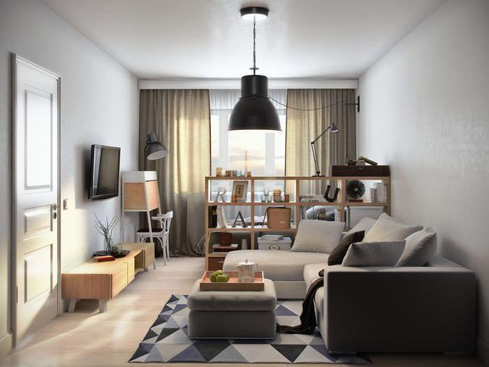 идея красивого дизайна гостинки