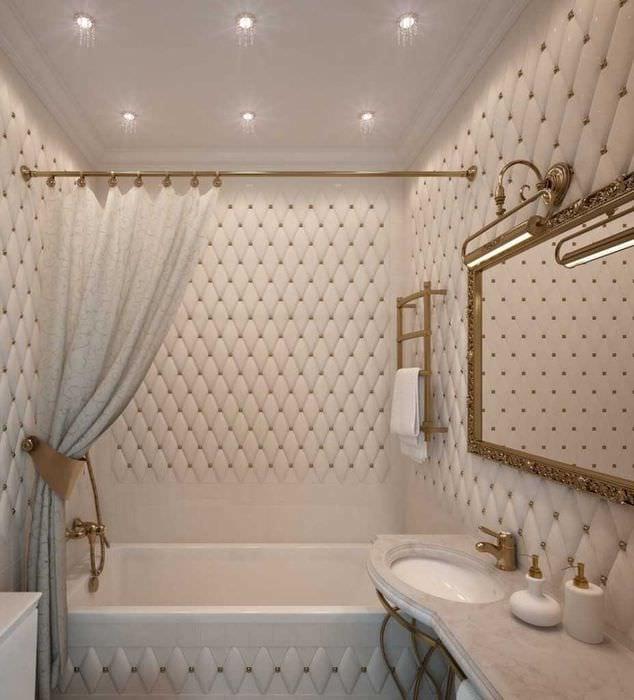 вариант яркого стиля ванной 2.5 кв.м