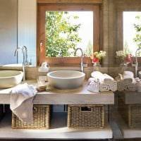 идея красивого интерьера ванной комнаты 4 кв.м фото