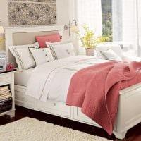 идея красивого дизайна спальни в белом цвете фото