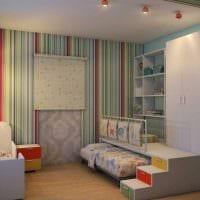 идея светлого декора детской комнаты картинка
