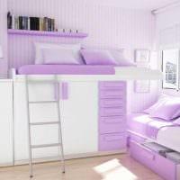 идея необычного дизайна детской комнаты для девочки картинка