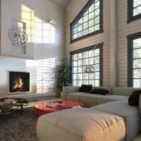 вариант современного дизайна дома со вторым светом картинка