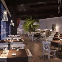 вариант яркого интерьера ресторана в стиле лофт картинка