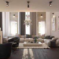 идея яркого интерьера дома со вторым светом картинка