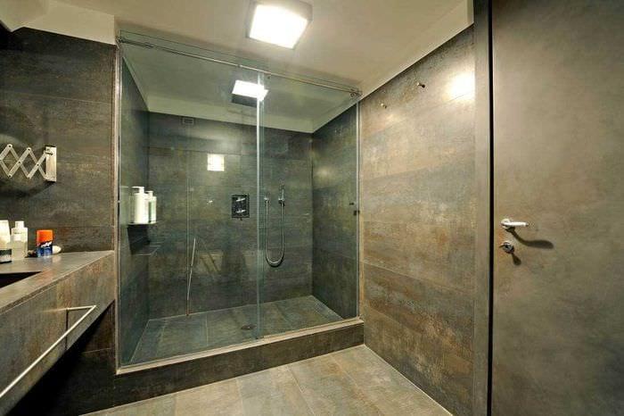 вариант красивого стиля ванной комнаты 2017