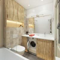 вариант красивого дизайна ванной комнаты 2.5 кв.м фото