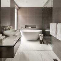 вариант современного стиля ванной комнаты 2017 фото