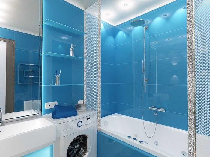 идея современного дизайна ванной комнаты 4 кв.м