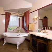 вариант светлого стиля ванной комнаты в классическом стиле картинка