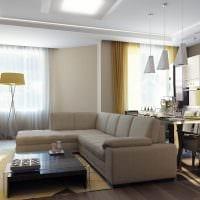 пример красивого декора гостиной комнаты с эркером картинка