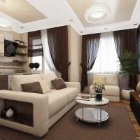 пример необычного дизайна современной квартиры 65 кв.м фото