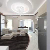 вариант светлого интерьера квартиры 50 кв.м картинка