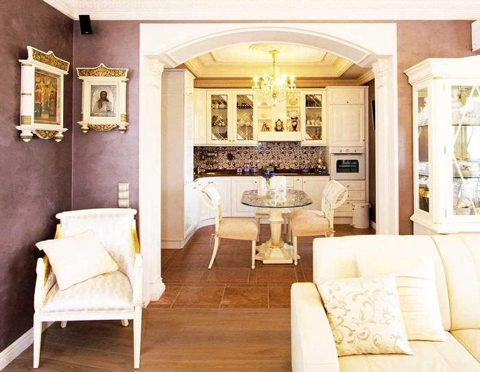 пример яркого декора современной квартиры 65 кв.м