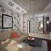 вариант красивого стиля гостиной 16 кв.м фото