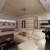 вариант красивого дизайна гостиной 25 кв.м картинка