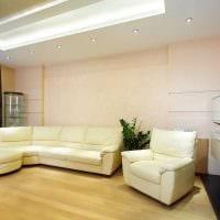 пример светлого интерьера гостиной комнаты в стиле минимализм картинка