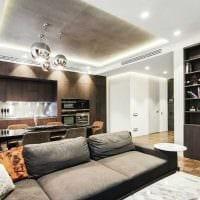 пример красивого дизайна гостиной в стиле минимализм фото
