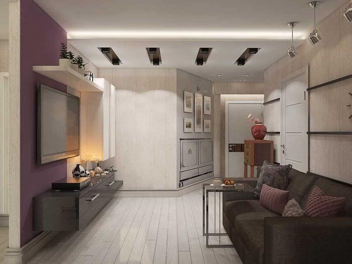 пример красивого дизайна современной квартиры 70 кв.м