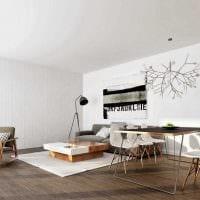 пример яркого дизайна гостиной в стиле минимализм фото