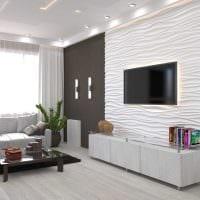 пример красивого интерьера гостиной в стиле минимализм картинка