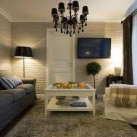 вариант яркого интерьера квартиры 50 кв.м фото