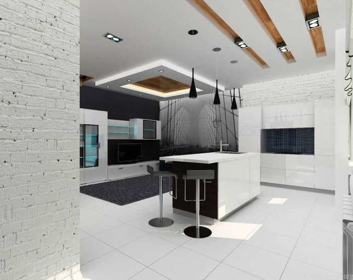 пример необычного декора квартиры 70 кв.м