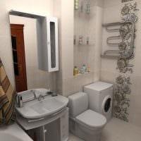 вариант необычного интерьера ванной комнаты 5 кв.м фото
