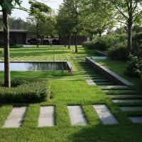 пример красивого ландшафтного дизайна сада картинка